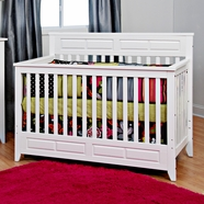 Child Craft Shoal Creek Lifetime Convertible Crib in Matte White