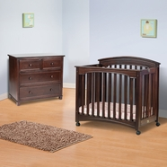 Child Craft Stanford Mini Crib in Cherry