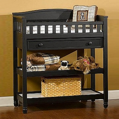 Child Craft Watterson Changing Table In Distressed Black