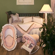 Classic Pink Crib Bedding Collection by Hoohobbers