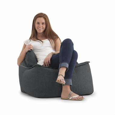 Terrific Comfort Research Big Joe Lux Zip It Square Bean Bag Chair In Magnet Hitchcock Forskolin Free Trial Chair Design Images Forskolin Free Trialorg