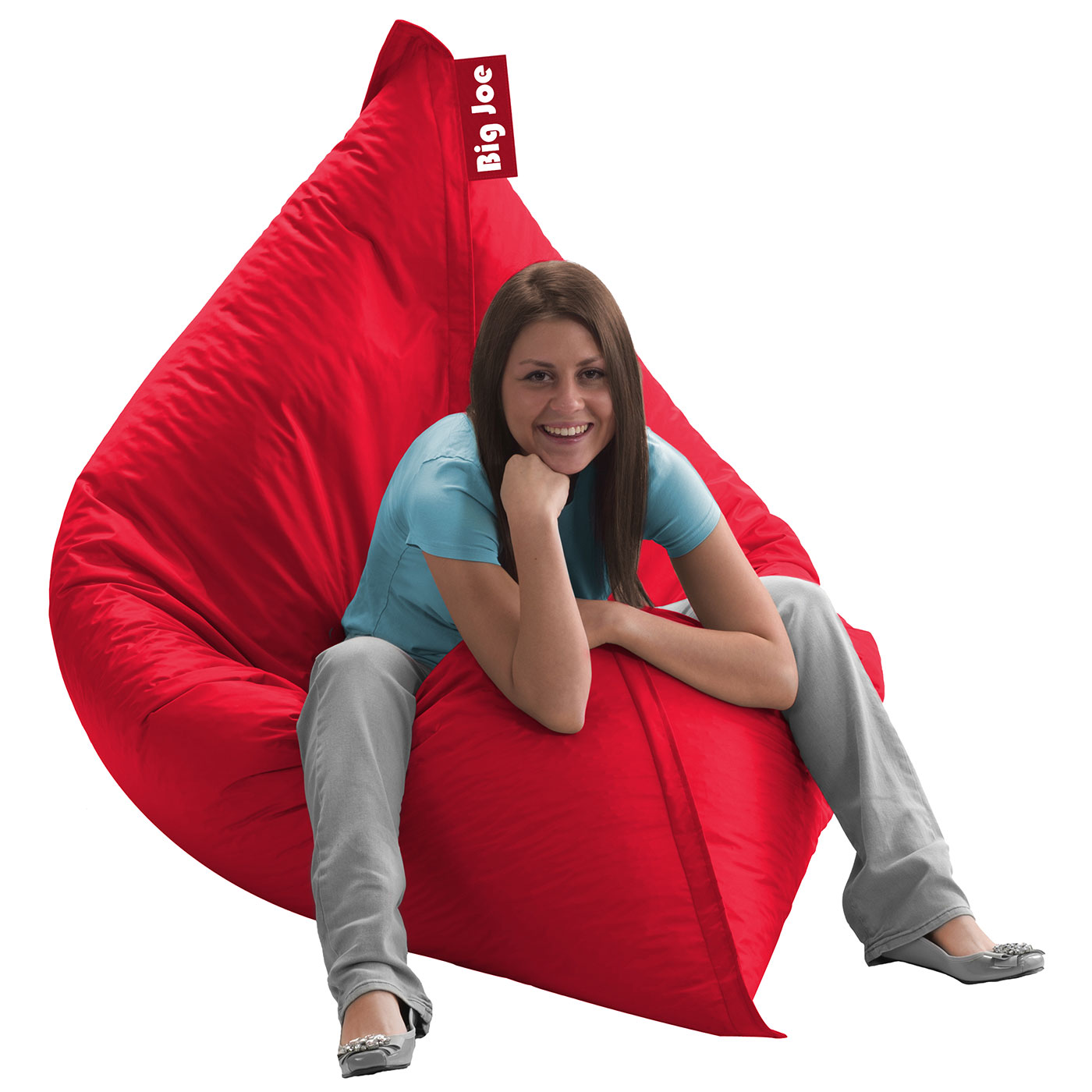 Miraculous Comfort Research Big Joe Original Smartmax Bean Bag Chair In Flaming Red Gmtry Best Dining Table And Chair Ideas Images Gmtryco