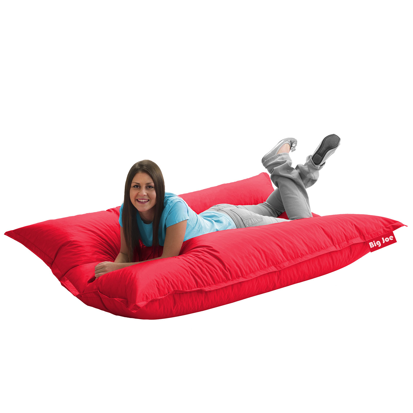 Comfort Research Big Joe Original SmartMax Bean Bag Chair In Flaming Red  FREE SHIPPING