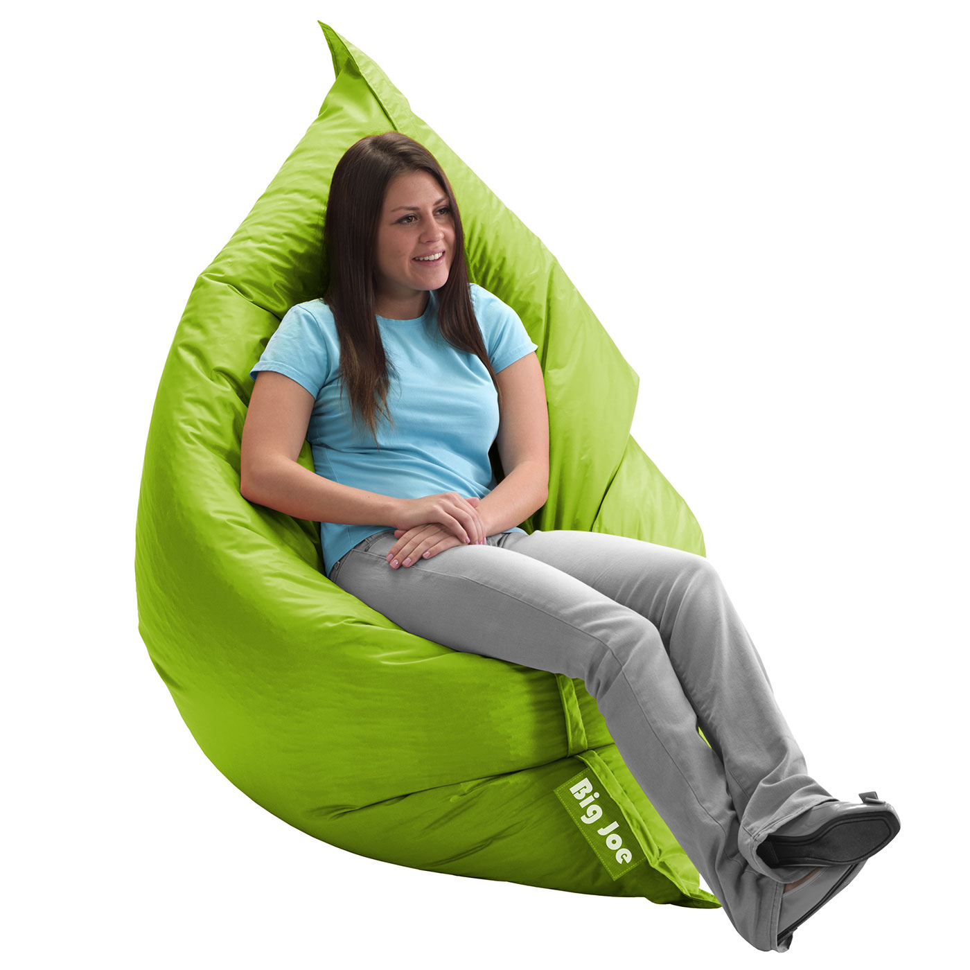 Gentil Comfort Research Big Joe Original SmartMax Bean Bag Chair In Spicy Lime  FREE SHIPPING
