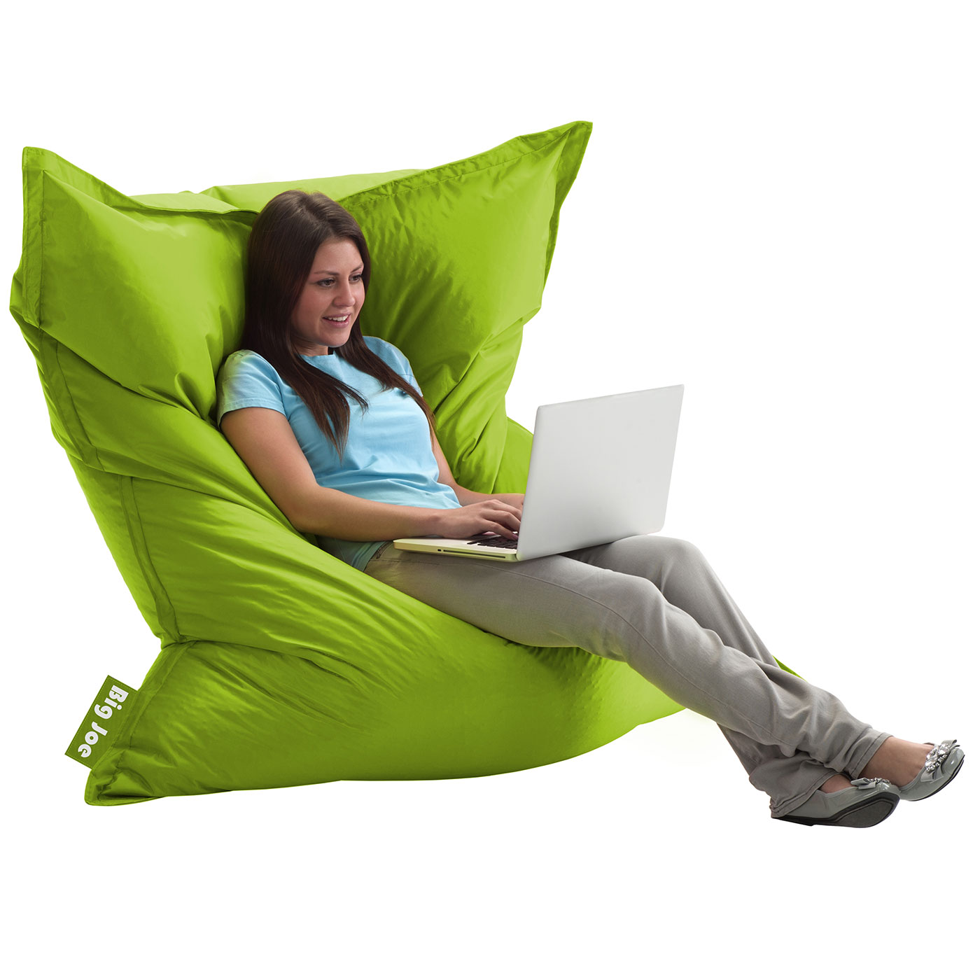 Comfort Research Big Joe Original SmartMax Bean Bag Chair In Spicy Lime FREE SHIPPING