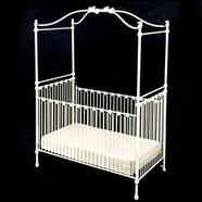 Corsican Bunny Canopy Iron Crib & Iron Brass Metal Designer and Custom Baby Cribs | FREE SHIPPING