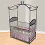 Corsican Tea Party Canopy Iron Crib