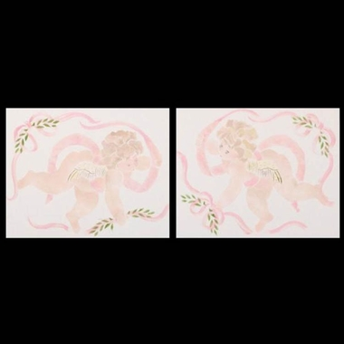 Cottontale Designs Lollipops and Roses 2 Piece Wall Art