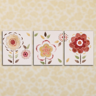 Cottontale Designs Peggy Sue 3 Piece Wall Art