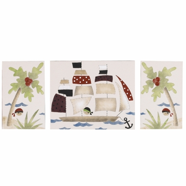 Cottontale Designs Pirates Cove 3 Piece Wall Art Set