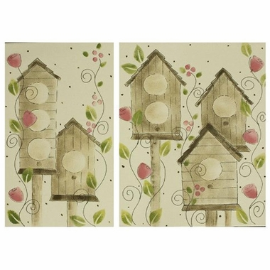 Cottontale Designs Raspberry Dot 2 Piece Wall Art Set