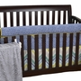 Cottontale Designs Zebra Romp Front Crib Rail Cover Up Set