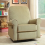 Creations Baby Ashewick Swivel Glider Recliner in Fern/Pearl
