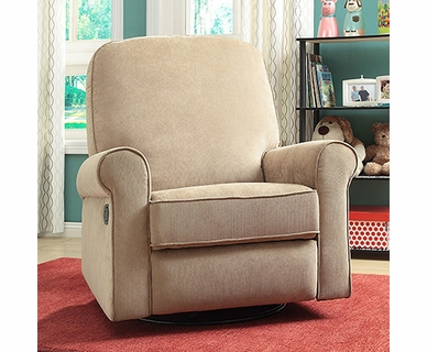 Creations Baby Ashewick Swivel Glider Recliner in Linen