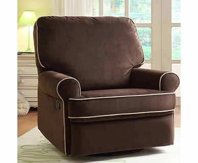 Creations Baby Birch Hill Swivel Glider Recliner in Coffee/Doe