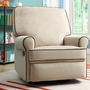 Creations Baby Birch Hill Swivel Glider Recliner in Doe/Coffee
