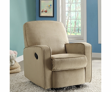 Creations Baby Sutton Swivel Glider Recliner in Straw