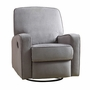 Creations Baby Sutton Swivel Glider Recliner in Zen Grey