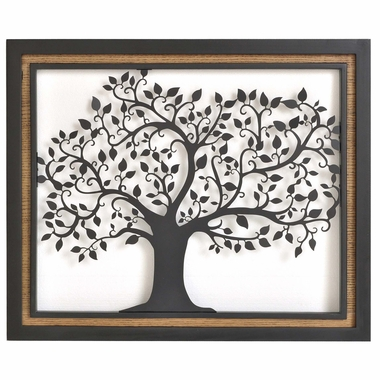 Crestview Collection Arbor Suspension 1 Black Tree Wall Art