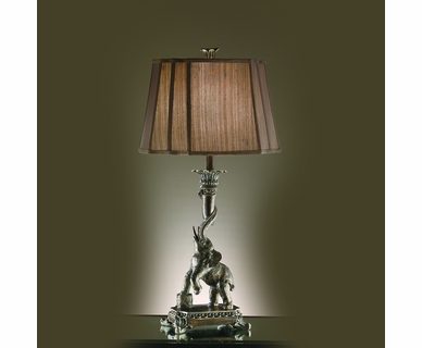Crestview Collection Ella Elephant Resin Table Lamp In Bronze