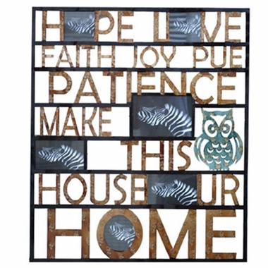 Crestview Collection Life 2 Inspirational Words Wall Art