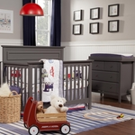 DaVinci 2 Piece Nursery Set - Autumn 4 in 1 Convertible Crib and Changer Dresser in Slate
