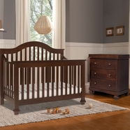Davinci 2 Piece Nursery Set - Clover 4-in-1 Convertible Crib and Dresser Changer in Espresso