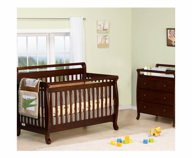 DaVinci 2 Piece Nursery Set - Emily 4 in 1 Convertible Crib with Toddler Rail and 3 Drawer Dresser in Espresso