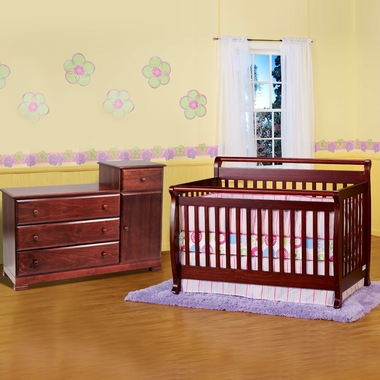 Da Vinci 2 Piece Nursery Set Emily 4 In 1 Convertible