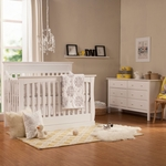 Davinci 2 Piece Nursery Set - Glenn 4-in-1 Convertible Crib and Jayden 6 Drawer Double Dresser in White