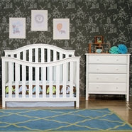DaVinci 2 Piece Nursery Set - Goodwin 4-in-1 Convertible Crib and Jayden 4 Drawer Dresser in White