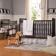 DaVinci 2 Piece Nursery Set - Jenny Lind 3 in 1 Convertible Crib and Changing Table in Ebony