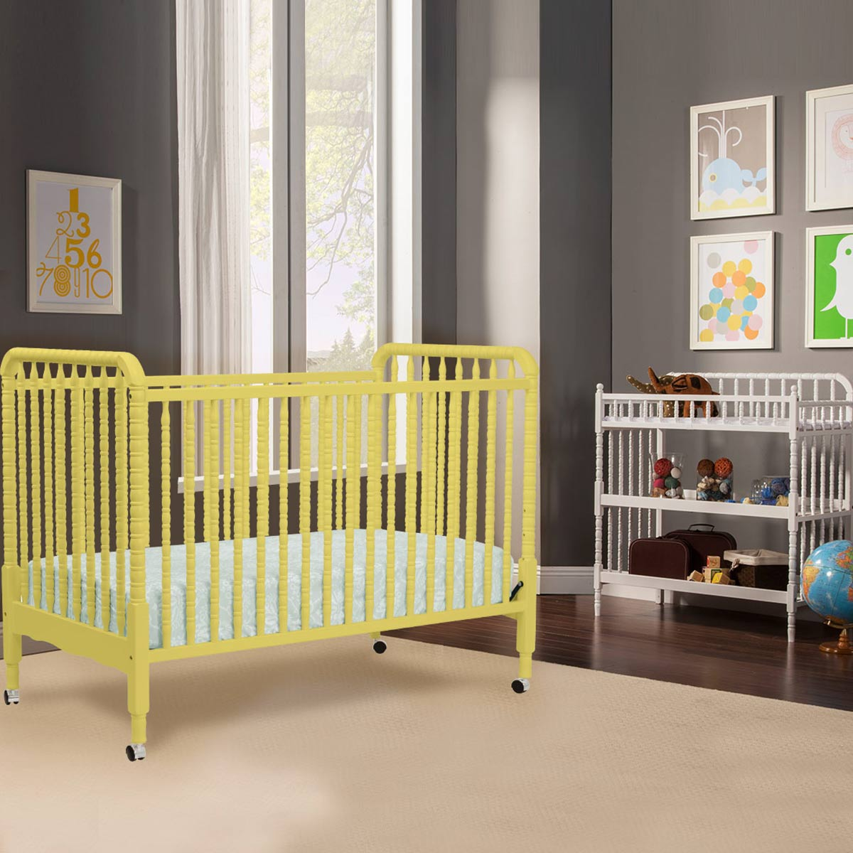 jenny convertible davinci shipping grey stationary fog crib free lind gray in