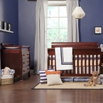 DaVinci 2 Piece Nursery Set - Kalani 4 in 1 Convertible Crib and 3 Drawer Changer in Cherry