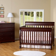 DaVinci 2 Piece Nursery Set - Kalani 4 in 1 Convertible Crib with Toddler Rail and 4 Drawer Dresser in Espresso