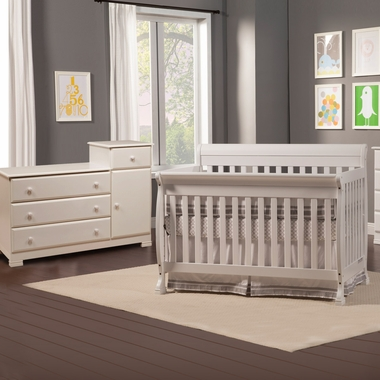 Davinci 2 Piece Nursery Set Kalani 4 In 1 Convertible Crib With Toddler Rail And