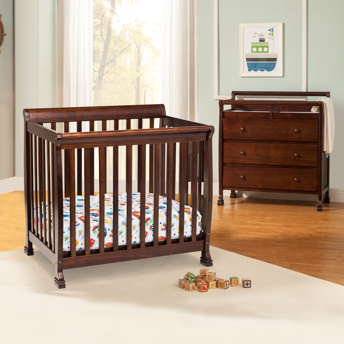 Delicieux Da Vinci 2 Piece Nursery Set   Kalani Mini Crib And 3 Drawer Changing Table  In Espresso FREE SHIPPING