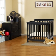 DaVinci Kalani 2 Piece Nursery Set -  Mini Crib and Combo Changer/Dresser in Ebony