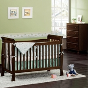 DaVinci 2 Piece Nursery Set - Reagan 4 in 1 Convertible Crib with Toddler Rail and Parker 4 Drawer Dresser in Coffee