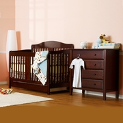 DaVinci 2 Piece Nursery Set - Richmond 4 in 1 Convertible Crib with Toddler Rail and 4 Drawer Dresser in Espresso