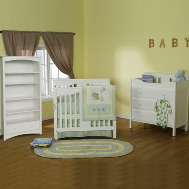 davinci 3 piece nursery set annabelle mini crib jayden 3 drawer changer and bookcase