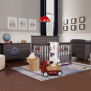 DaVinci 3 Piece Nursery Set - Autumn 4 in 1 Convertible Crib, Changer and Jayden 6 Drawer Dresser in Slate - Click to enlarge