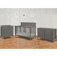 DaVinci 3 Piece Nursery Set - Autumn 4 in 1 Convertible Crib, Changer and Jayden 6 Drawer Dresser in Slate