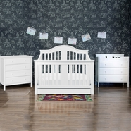 DaVinci 3 Piece Nursery Set - Cameron Convertible Crib, Jayden 3 Drawer Dresser / Changer and 4 Drawer Dresser in White