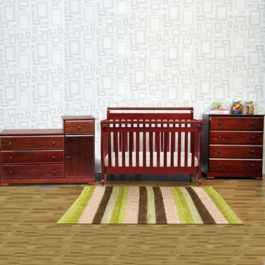 Set Emily 4 In 1 Convertible Crib With Toddler Rail And