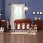 DaVinci 3 Piece Nursery Set - Kalani 4 in 1 Convertible Crib with Toddler Rail, 3 Drawer Changer and 4 Drawer Dresser in Cherry