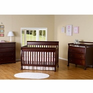 DaVinci 3 Piece Nursery Set - Kalani 4 in 1 Convertible Crib with Toddler Rail, 3 Drawer Changer and 4 Drawer Dresser in Espresso