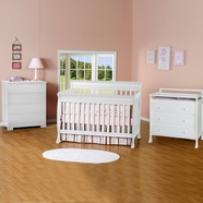 DaVinci 3 Piece Nursery Set - Kalani 4 in 1 Convertible Crib with Toddler Rail, 3 Drawer Changer and 4 Drawer Dresser in White