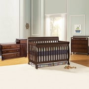 DaVinci 3 Piece Nursery Set - Kalani 4 in 1 Convertible Crib with Toddler Rail, 3 Drawer Changer and Combo Changer/Dresser in Espresso