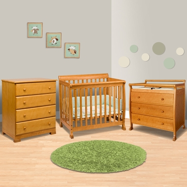 Lovely DaVinci Kalani 3 Piece Nursery Set   Mini Crib, 3 Drawer Changing Table And  4